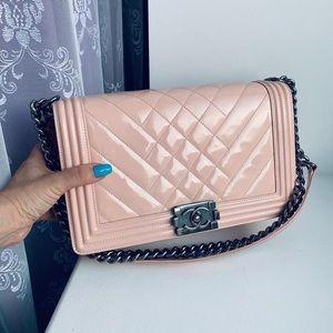 Chanel Medium Patent Leather Le Boy Bag